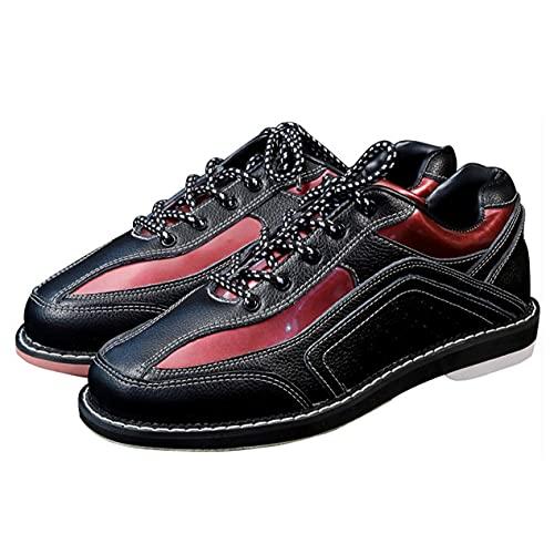 WJFGGXHK Chaussures Bowling pour Hommes Bols en Cuir pour Femmes Chaussures De Sport Bols Respirants Légers Chaussures,Noir,38 EU