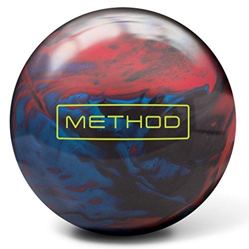Brunswick méthode hybride, Brunswick Method Bowling Ball- Red/Charcoal/Deep Sky, Red/Charcoal/Deep Sky, 12