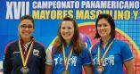 2016 PABCON Women's Singles medalists - from left, Clara Juliana Guerrero, Missy Parkin and Bryanna Cotè.