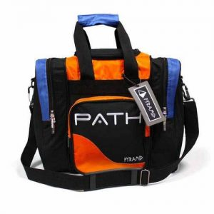 Orange, Blue, and Black Single Tote Bowling Bag
