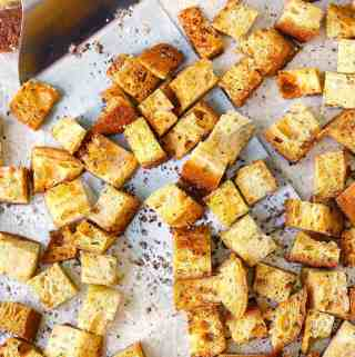 Homemade Whole Wheat Croutons