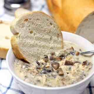 Creamy Mushroom, Chicken, and Wild Rice Soup