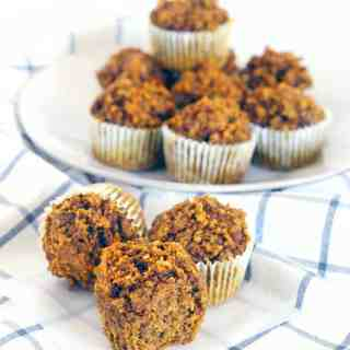 Gluten Free Pumpkin Oat and Nut Muffins