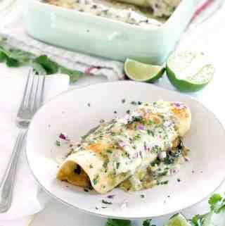 Chicken and Spinach Enchiladas Verdes