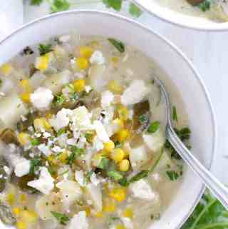 Mild Green Chile and Corn Chowder