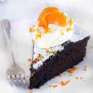 Spicy Gingerbread Cake with Orange Mascarpone Cream