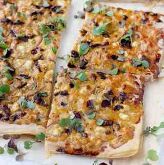 Feta and Sun Dried Tomato Tart
