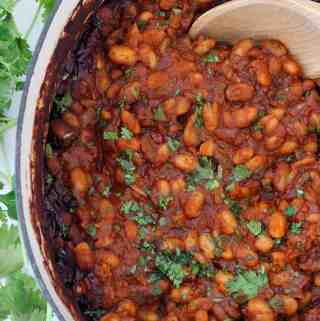 Mexican Baked Beans with Chorizo