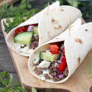 Greek Lamb Tacos with Tzatziki Sauce