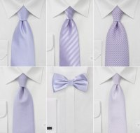 Wedding Ideas in Pastel Purple | Pastel Purple Wedding Ties