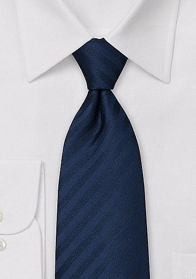 Elegant Navy Blue Business Tie  BowsNTiescom