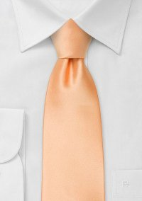 Solid Color Mens Tie in Peach-Apricot   Bows-N-Ties.com