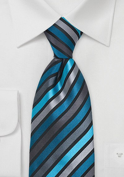 Mens Tie in Teal and Black  BowsNTiescom