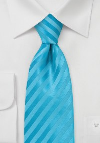 Extra Long Striped Neck Tie in Aqua Blues | Bows-N-Ties.com