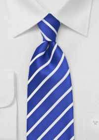 Ocean Blue and White Tie