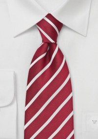 Deep Red and White Tie | Bows-N-Ties.com