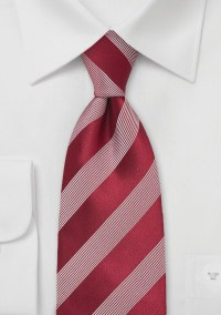 Bright Red Tie with White Stripes | Bows-N-Ties.com