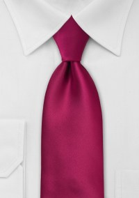 Extra Long Mens Neck Tie in Ruby Red | Bows-N-Ties.com