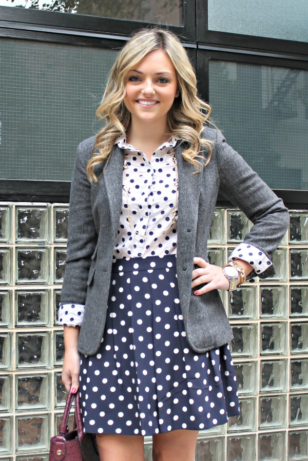 4 Awesomely Effortless Ways to Rock Your Polka Dot Skirt