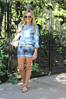 Jean Shorts with Sandals
