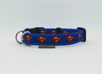 superman superhero dog collar