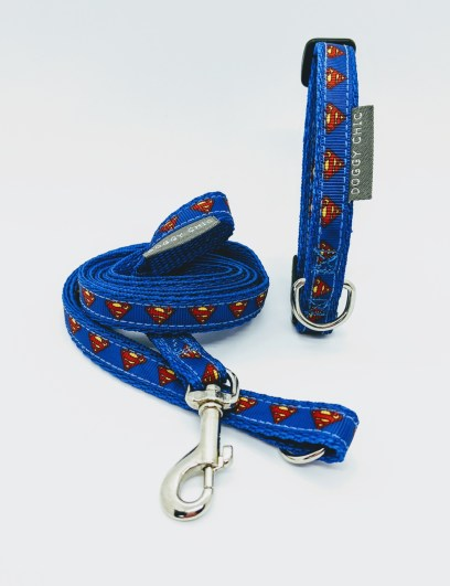 superman collar and lead for your small dog
