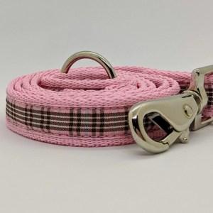 pink tartan lead