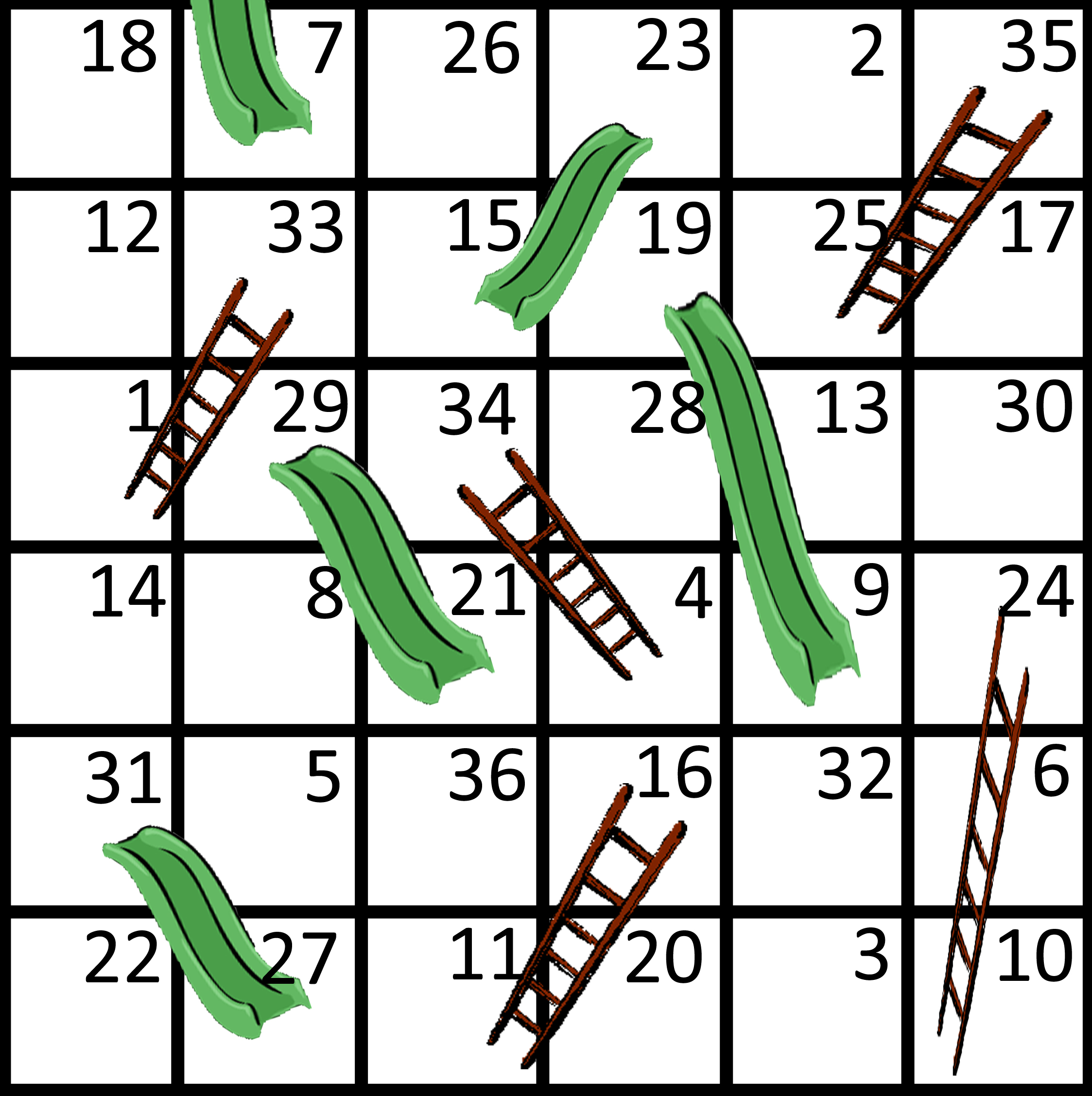 Free coloring pages of chutes and ladders for Chutes and ladders board game template