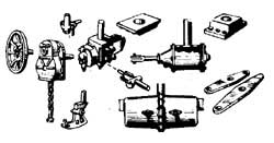 HO Cal Scale Freight Car Parts