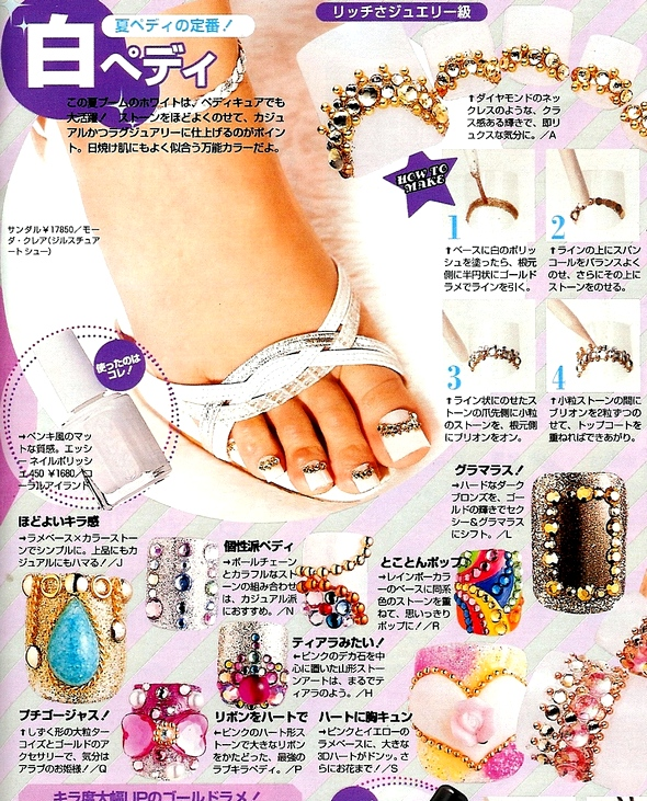 nail art pedicures