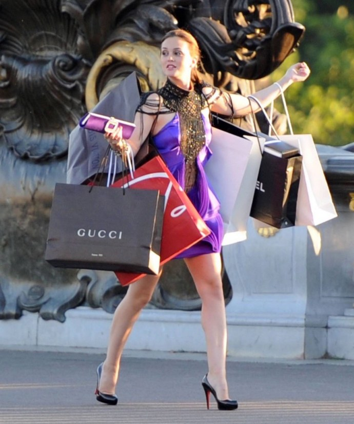 blair gossip girl accessoires de shopping