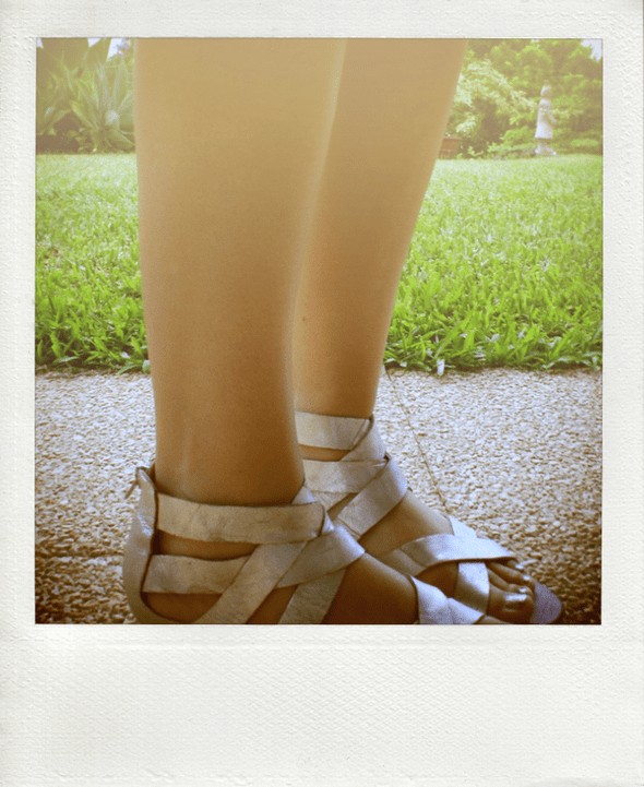dv dolce vita silver wedges straps
