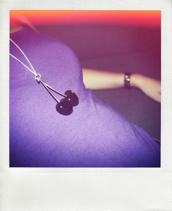 cherry necklace black swarovski