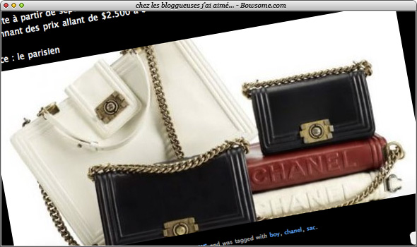 boy bag sac chanel