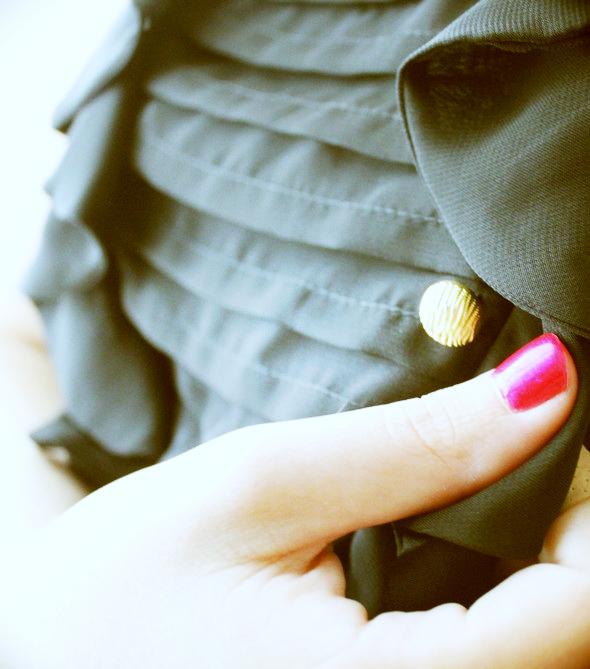 robe primark boutons dores
