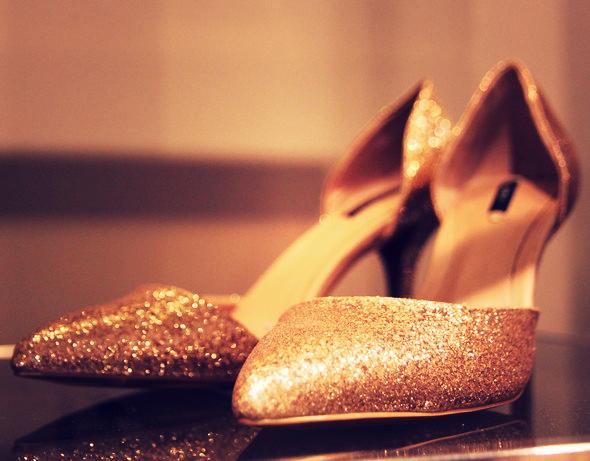 escarpins glitters zara