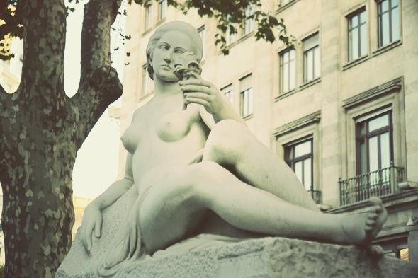 statue barcelone