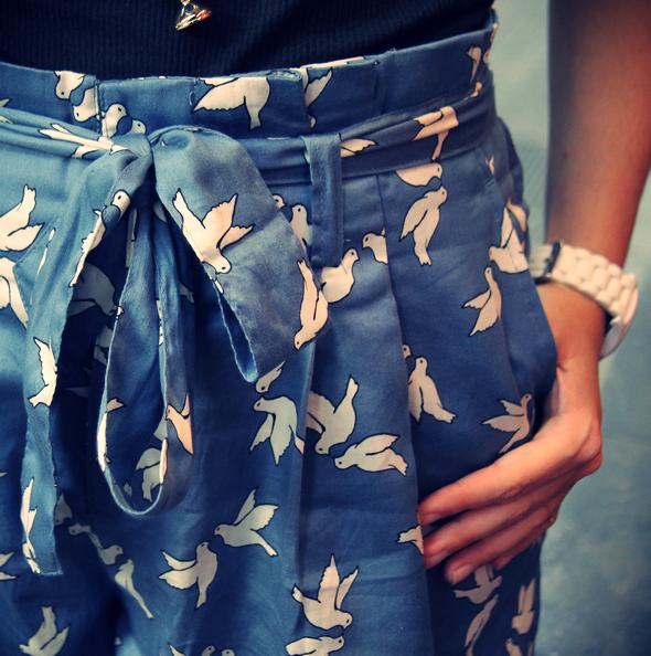 short noue oiseaux h&m