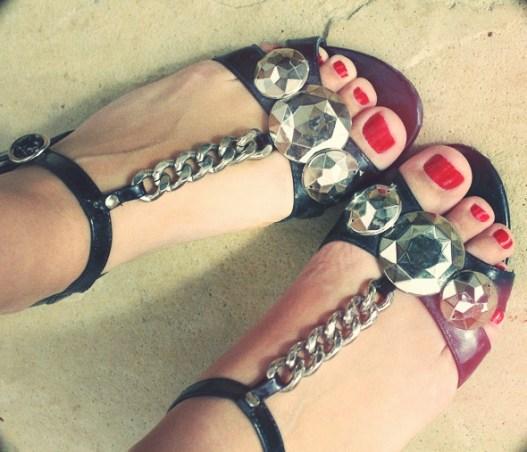sandales chaines kurt geiger
