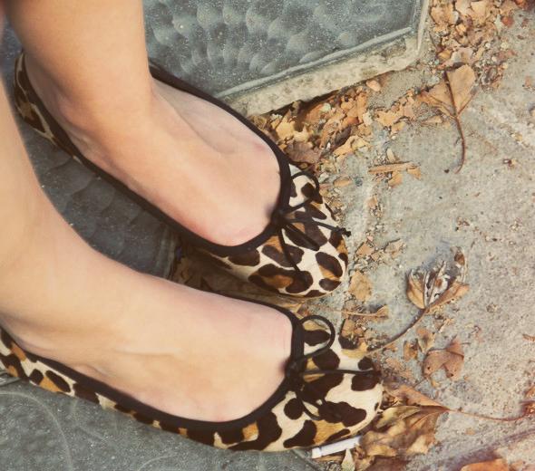 ballerines leopard zara