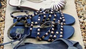 dv dolce vita sandales noires et dorees