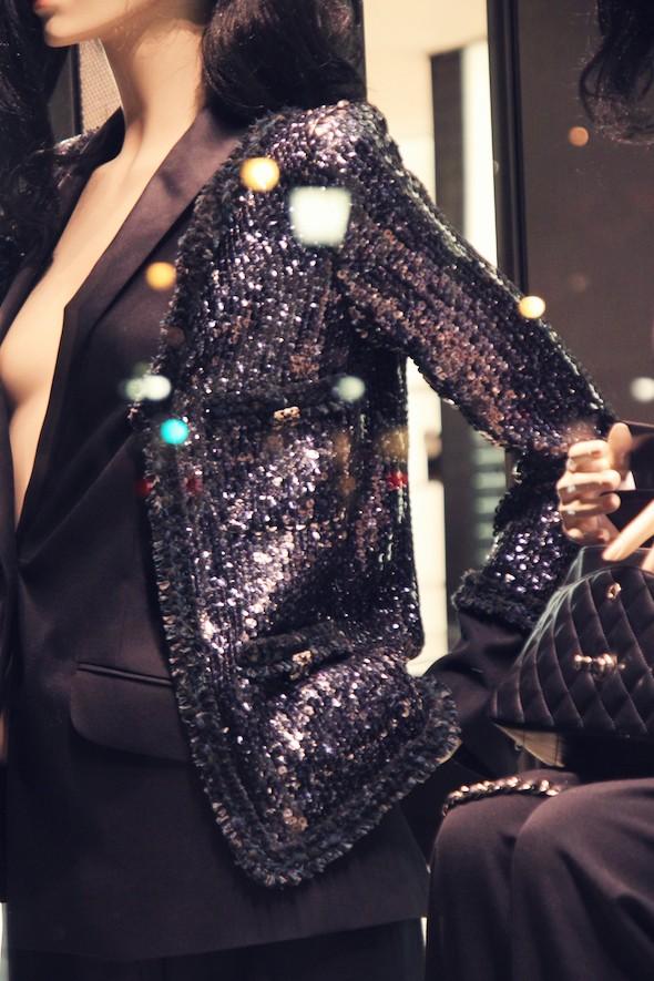 veste noire sequins