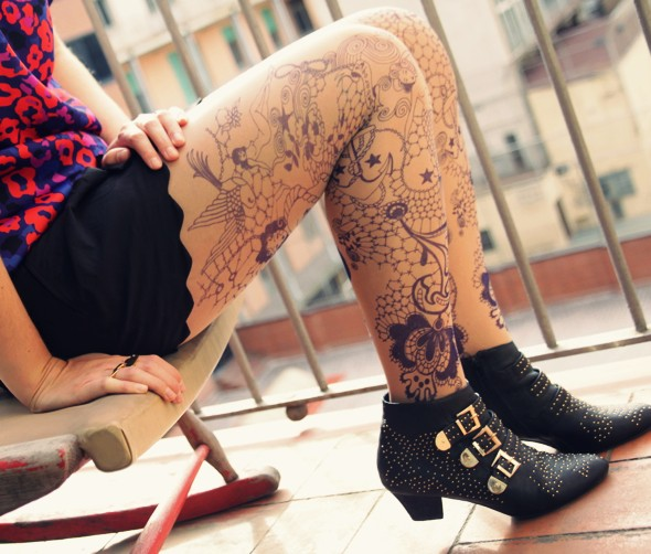 collants tatouages bebaroque