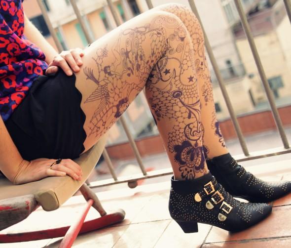collants tatouages bebaroque