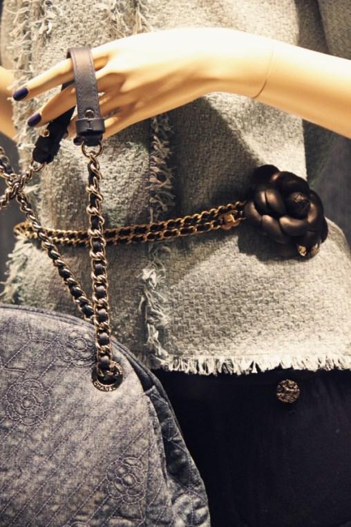 Chanel textile bag belt