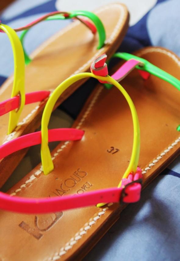 k jacques sandales neon