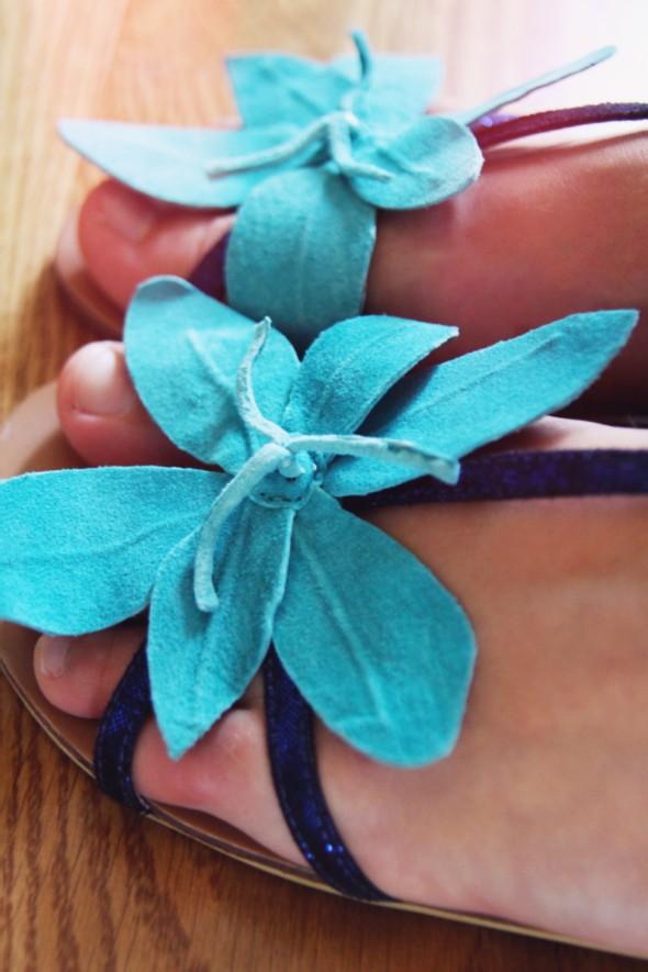 lollipops sandales à fleurs