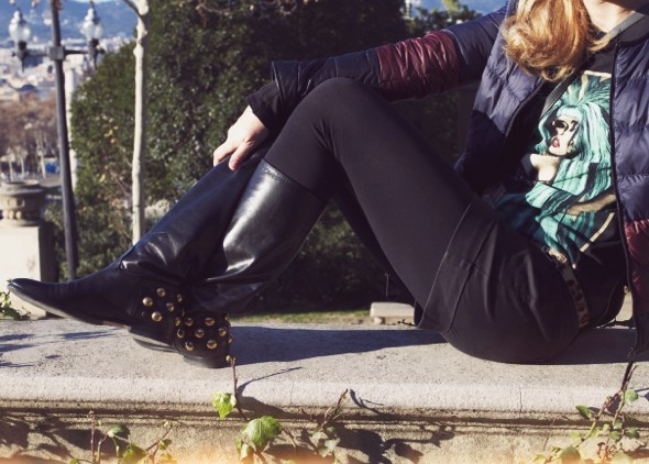 bottes gucci babuska babouska boots flats black noir lady gaga shirt comptoir des cotonniers uniqlo mlle plume_effected-001