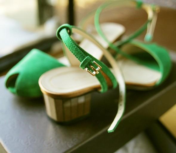 sandales gucci vertes