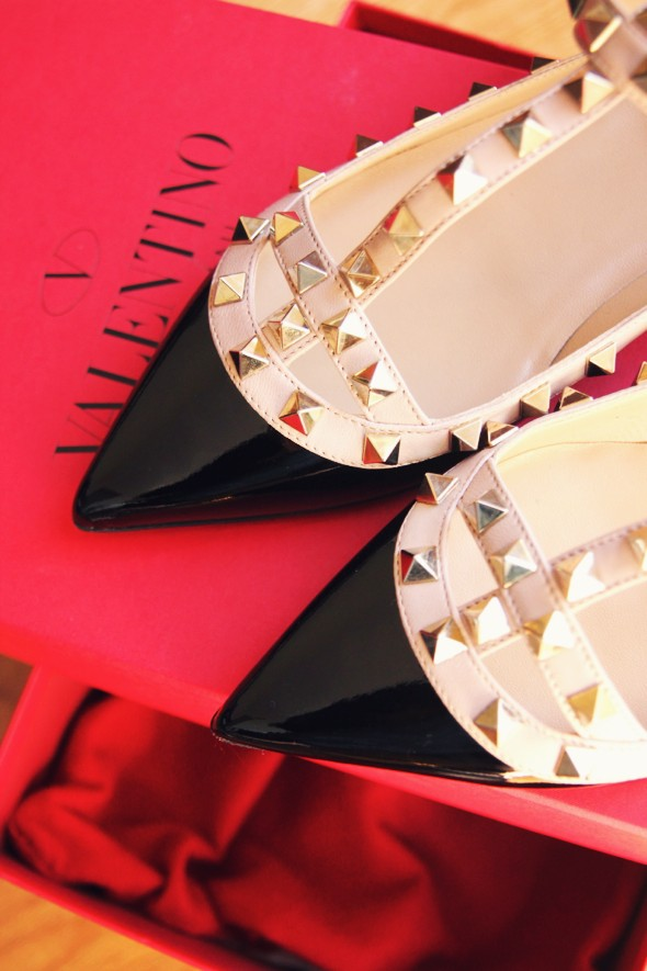 Studded shoes by Valentino